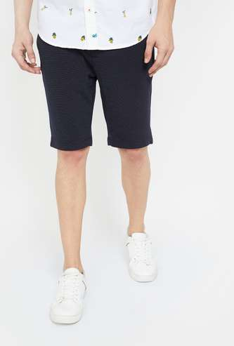 UNITED COLORS OF BENETTON Textured Casual Shorts