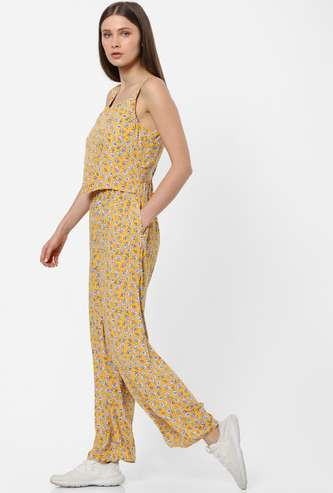 ONLY Floral Print Sleeveless Jumpsuit