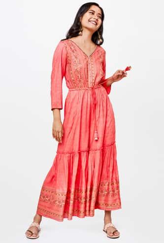 GLOBAL DESI Women Floral Print Jumpsuit with Sequin Embellishment