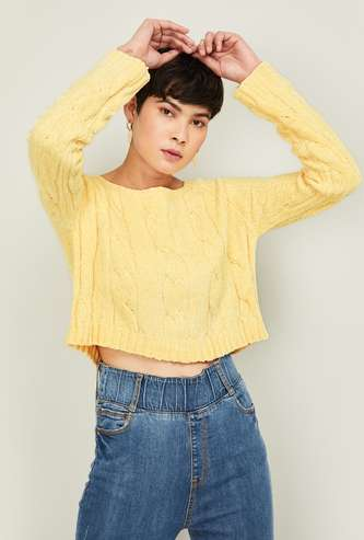 GINGER Women Solid Sweater
