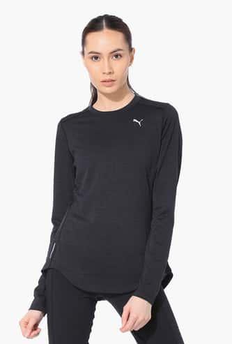 PUMA Women Solid Sports T-shirt