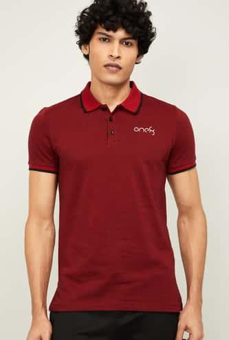 PUMA Men Solid Short Sleeves Slim Fit Polo T-shirt