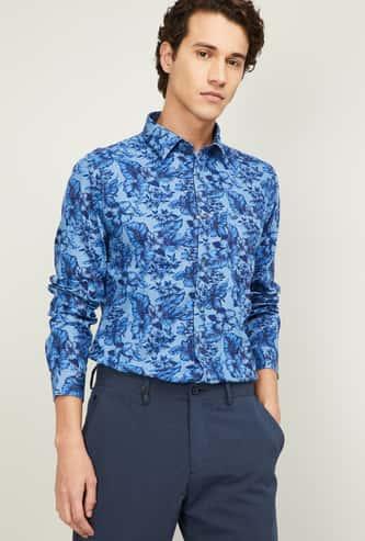 LEE COOPER Men Floral Print Slim Fit Casual Shirt