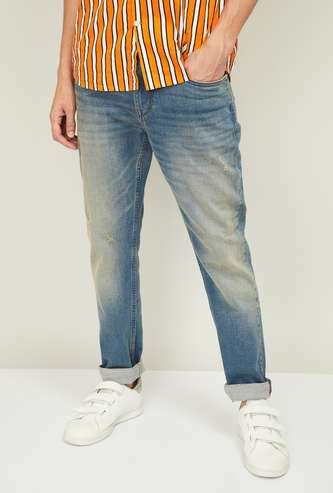 U.S. POLO ASSN. Men Stonewashed Slim Tapered Fit Jeans