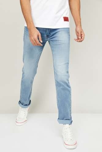LEVI's Men Stonewashed Slim Tapered Jeans