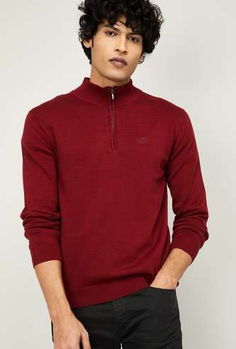 LEVI'S Men Textured Pullover with Zipper