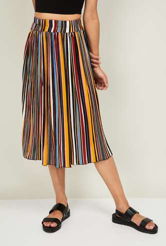 GINGER Women Striped Midi Dress