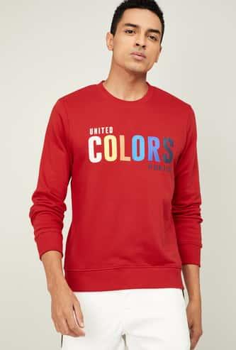 UNITED COLORS OF BENETTON Men Printed Full Sleeves Sweatshirt