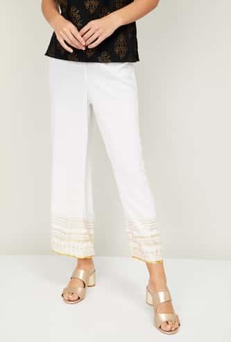 MELANGE Women Printed Straight Pants