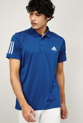 ADIDAS Men Printed Short Sleeves Regular Fit Polo T-shirt