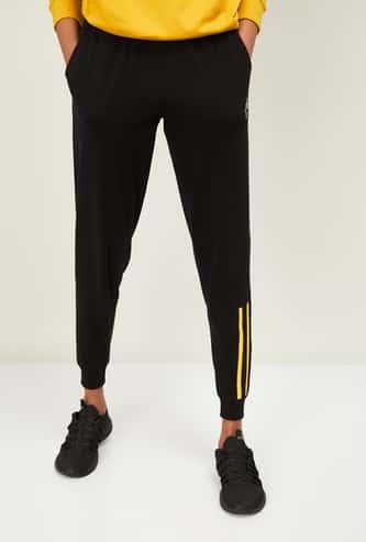KAPPA Women Striped Full-Length Joggers