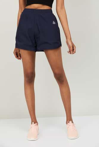 KAPPA Women Solid Curved Hem Training Shorts