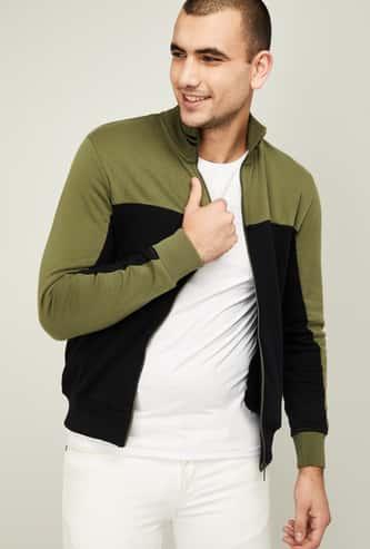 CELIO Men Colourblock Sweatshirt