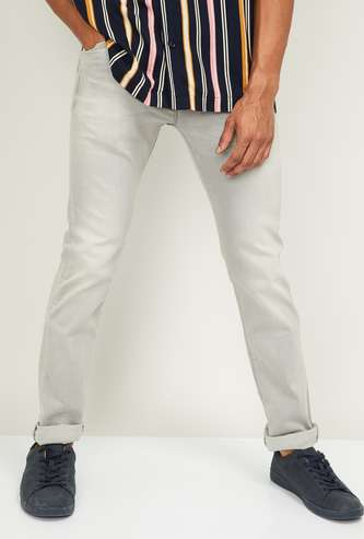PEPE JEANS Men Stonewashed Skinny Fit Jeans