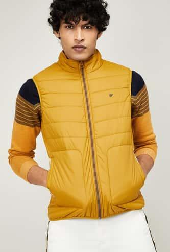T-BASE Men Solid Puffer Jacket