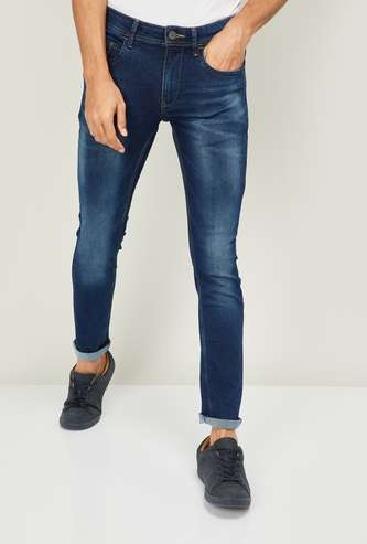 FORCA Men Stonewashed Skinny Fit Jeans