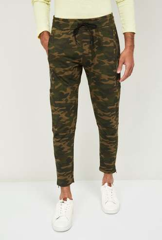 FORCA Men Camouflage Print Drawstring Waist Track Pants