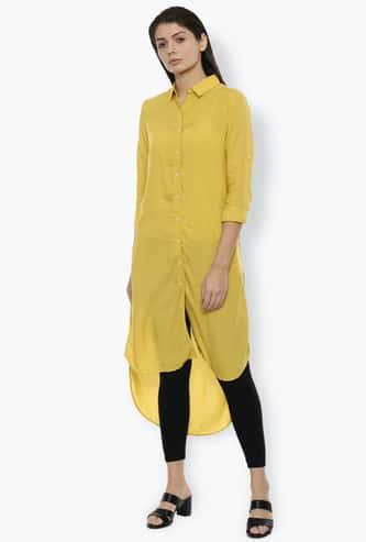 VAN HEUSEN Women Solid High-Low Shirt Tunic