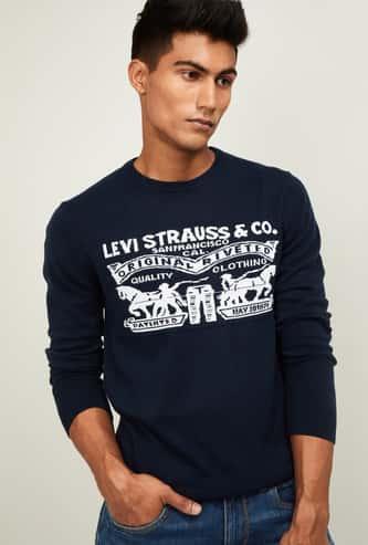 LEVI'S Men Printed Full Sleeves Sweater