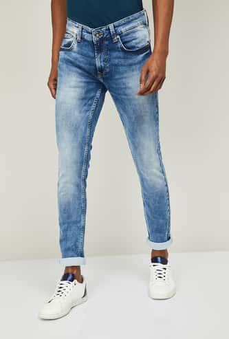 SPYKAR Men Stonewashed Skinny Fit Jeans
