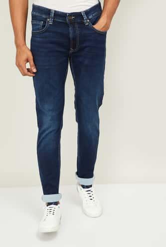 SPYKAR Men Stonewashed Slim Fit Jeans
