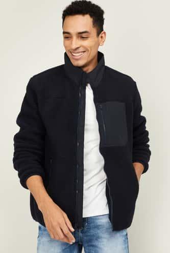 GAP Men Solid Zip-Closure Jacket with Zip Pocket