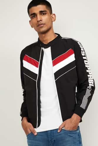 NUMERO UNO Men Printed Biker Jacket