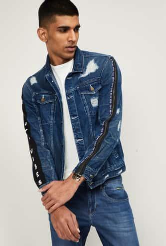 NUMERO UNO Men Distressed Denim Jacket