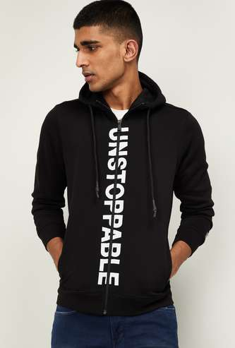 NUMERO UNO Men Printed Hooded Sweatshirt