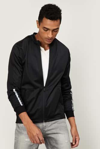 NUMERO UNO Men Zip-Front Sweatshirt with Zip Pockets