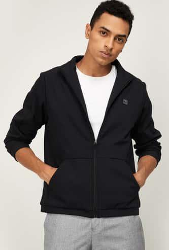 PROLINE Men Solid Zip-Front Sweatshirt