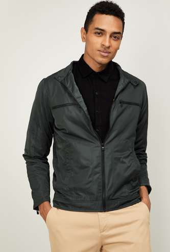 ALLEN SOLLY Men Solid Casual Jacket
