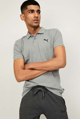 PUMA Men Solid Regular Fit Polo T-shirt