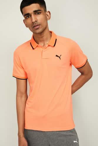 PUMA Men Regular Fit Pique Polo T-shirt