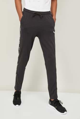 PUMA Men Textured Elasticated Track Pants