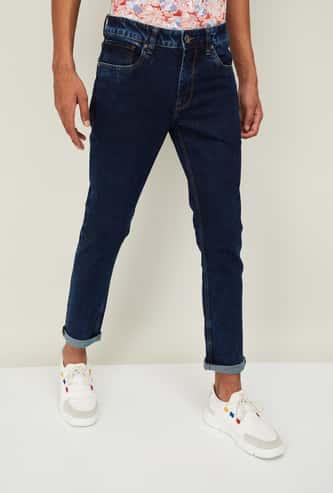 VOI JEANS Men Solid Skinny 5-Pocket Jeans