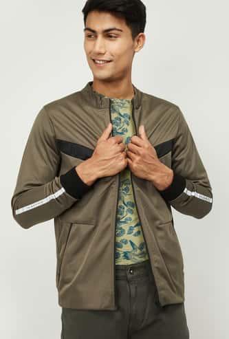 NUMERO UNO Men Solid Front-Open Sweatshirt