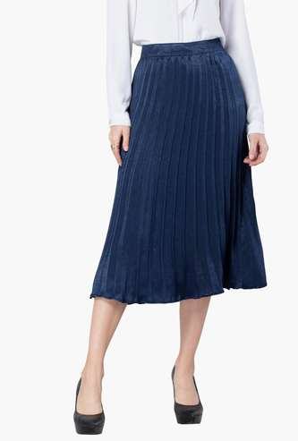 FABALLEY Women Textured Skirt