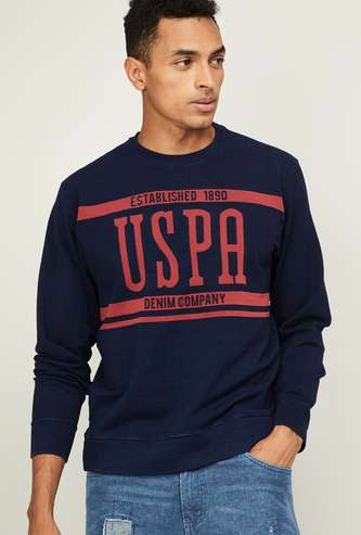U.S. POLO ASSN. Men Printed Crew-Neck Sweatshirt