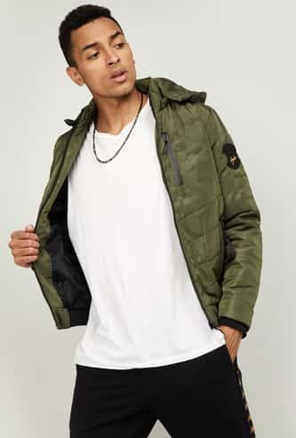 SPYKAR Men Solid Hooded Puffer Jacket