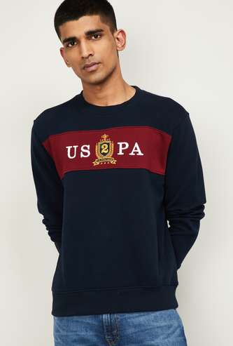 U.S. POLO ASSN. Men Printed Full Sleeves Sweatshirt
