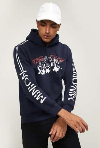 STATUS QUO Men Printed Hooded Sweatshirt