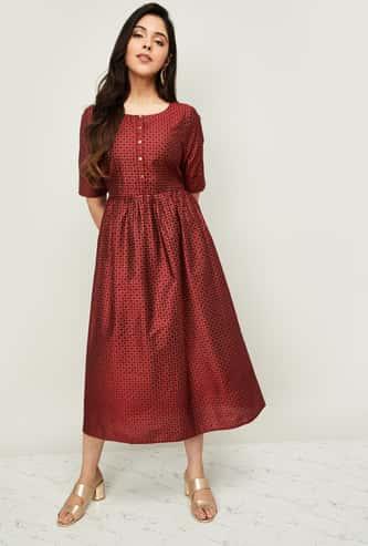 MELANGE Women Printed Midi Dress