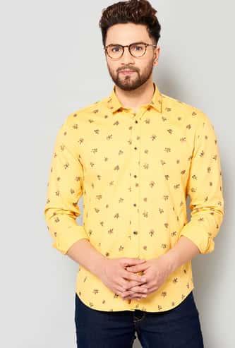 TURMS Men Printed Slim Fit Casual Shirt