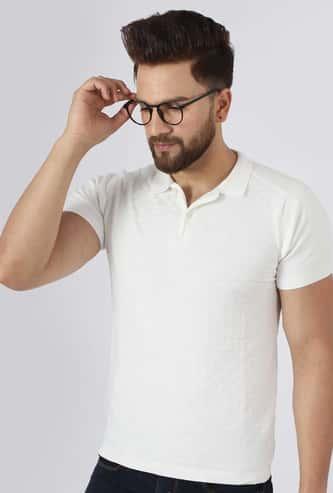 TURMS Men Solid Anti-Odour Polo T-shirt