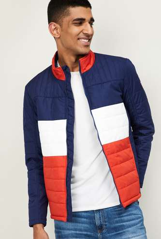 NUMERO UNO Men Colorblocked Puffer Jacket