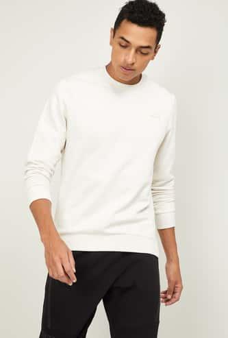 ALCIS Men Textured Full Sleeves Sweatshirt