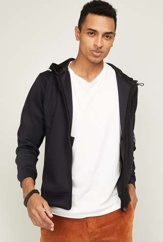 PROLINE Men Printed Hooded Sweatshirt