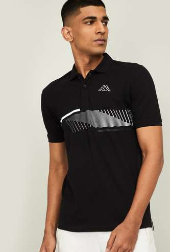 KAPPA Men Printed Regular Fit Short Sleeves Polo T-shirt