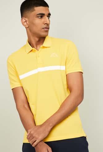 KAPPA Men Solid Regular Fit Short Sleeves Polo T-shirt